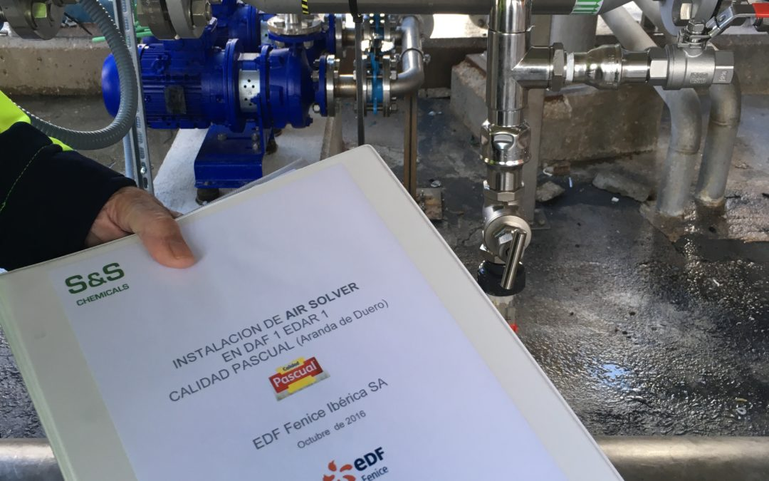S&S starts up an Air Solver in the primary phase of a Waste Water Treatment Plant in Aranda del Duero, Burgos